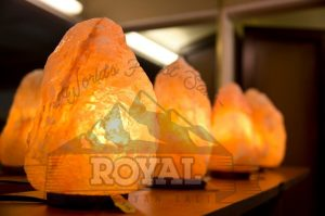 Natural Salt Lamps by Royal Himalayan Salt, available in many sizes are know to purify the air quality of any beholding place.