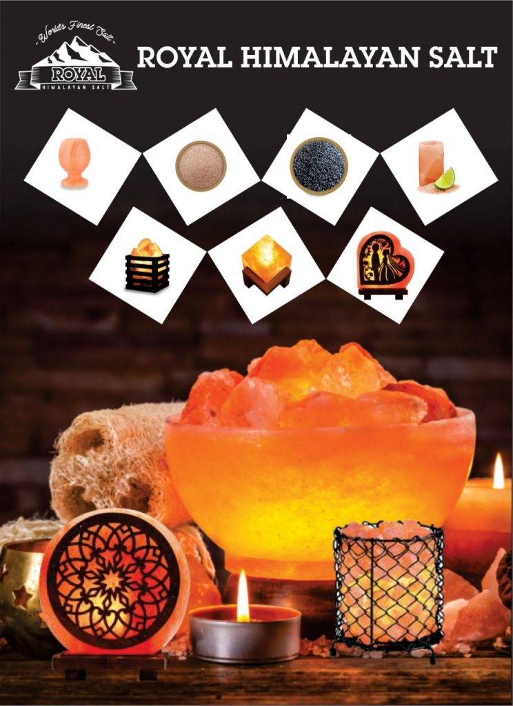 Some of the products of Royal Himalayan Salt is shown in the picture.